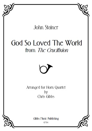 GOD SO LOVED THE WORLD (score & parts)