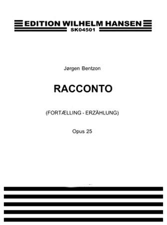 RACCONTO Op. 25 score