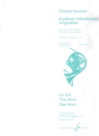 SIX ORIGINAL MELODIC PIECES Volume 1
