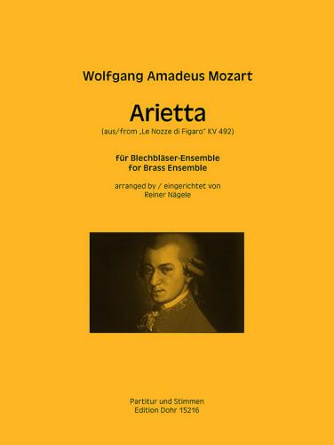 ARIETTA from Le Nozze de Figaro KV.492 (score & parts)