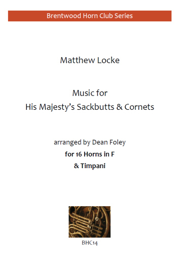 MUSIC FOR HIS MAJESTY'S SACKBUTTS & CORNETS (score & parts)