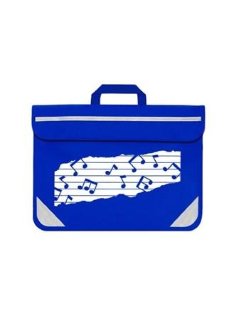 MUSIC BAG DUO Music Notes (Royal Blue)