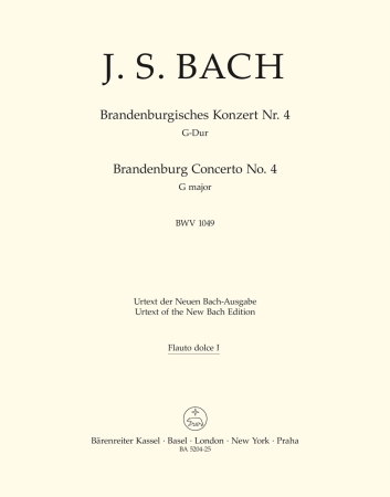 Brandeburg Concerto No.4 - Treble Recorder 1