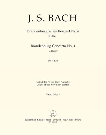 Brandeburg Concerto No.4 - Treble Recorder 1