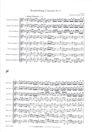BRANDENBURG CONCERTO No.3 (score & parts)