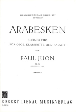 ARABESKEN Op.73 (set of parts)