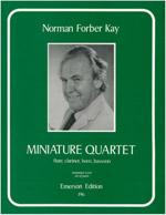 MINIATURE QUARTET score & parts