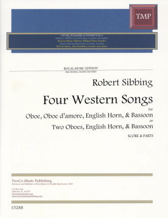 FOUR WESTERN SONGS (score & parts)