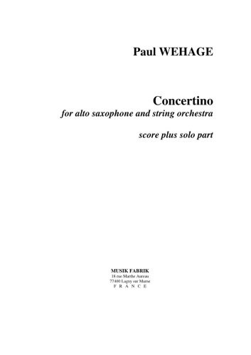 CONCERTINO (score + solo part)