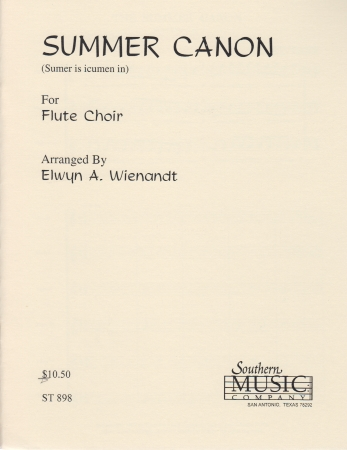 THE SUMMER CANON (score & parts)