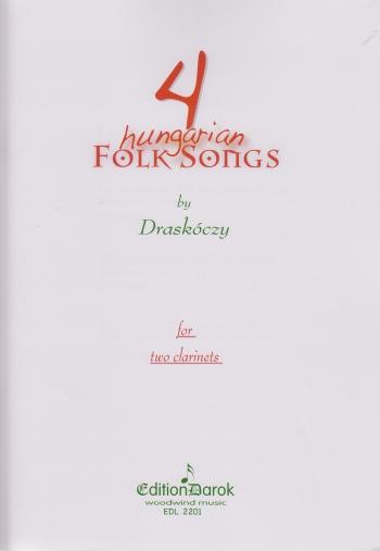 FOUR HUNGARIAN FOLK SONGS