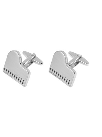 CUFFLINKS Silver Piano Top