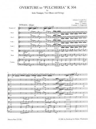 OVERTURE to 'Pulcheria' K304 (score & parts)