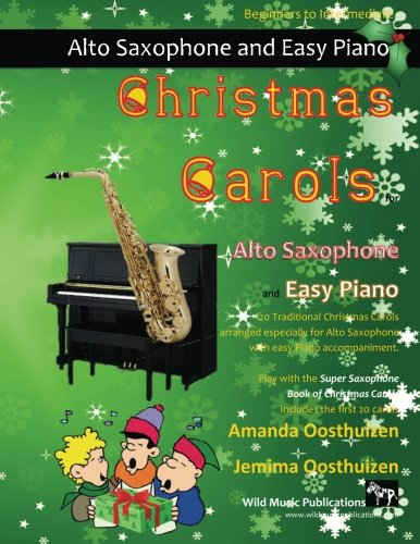 CHRISTMAS CAROLS for Alto Saxophone & Easy Piano