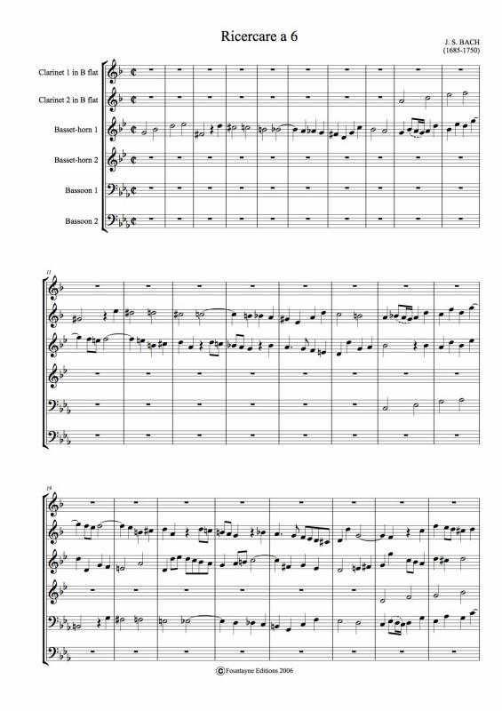 RICERCARE (score & parts)