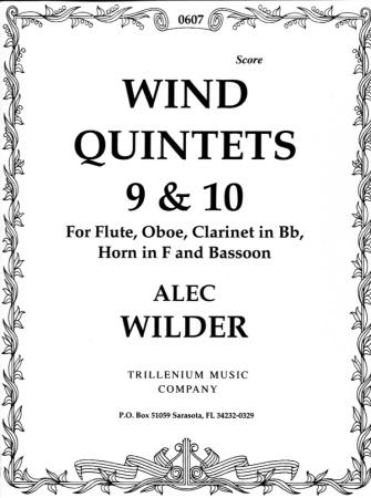 WIND QUINTETS Nos.9 & 10 score