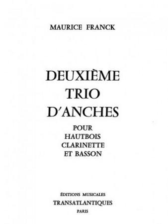DEUXIEME TRIO D'ANCHES (score)
