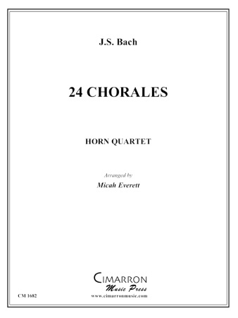 24 CHORALES (playing scores)