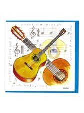 NOTELETS Acoustic Guitar Design (Pack of 5)