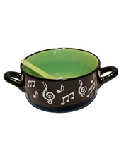 BOWL WITH SPOON Music Note (Green)