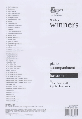 EASY WINNERS Piano Accompaniment