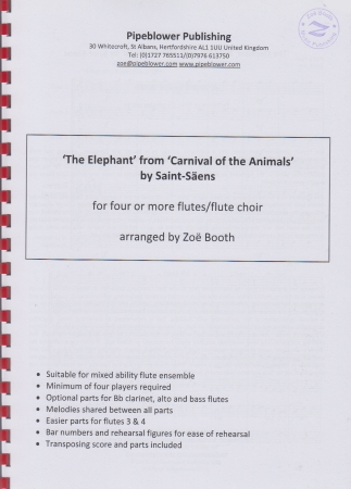 THE ELEPHANT from 'The Carnival of the Animals' score & parts