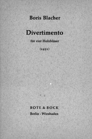 DIVERTIMENTO (set of parts)