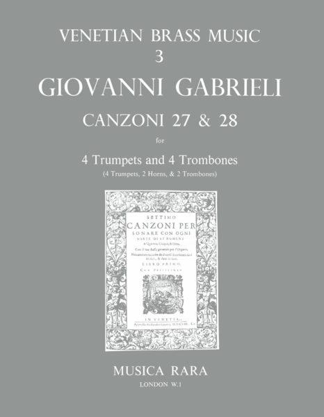 CANZONI 27 & 28 (score & parts)