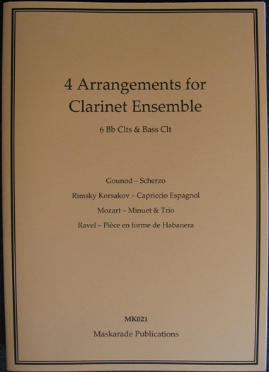 FOUR ARRANGEMENTS (score & parts)