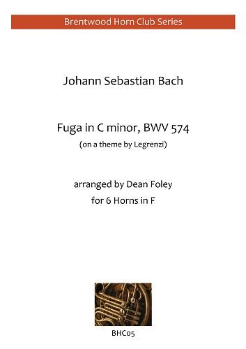 FUGA in C minor, BWV574 (score & parts)