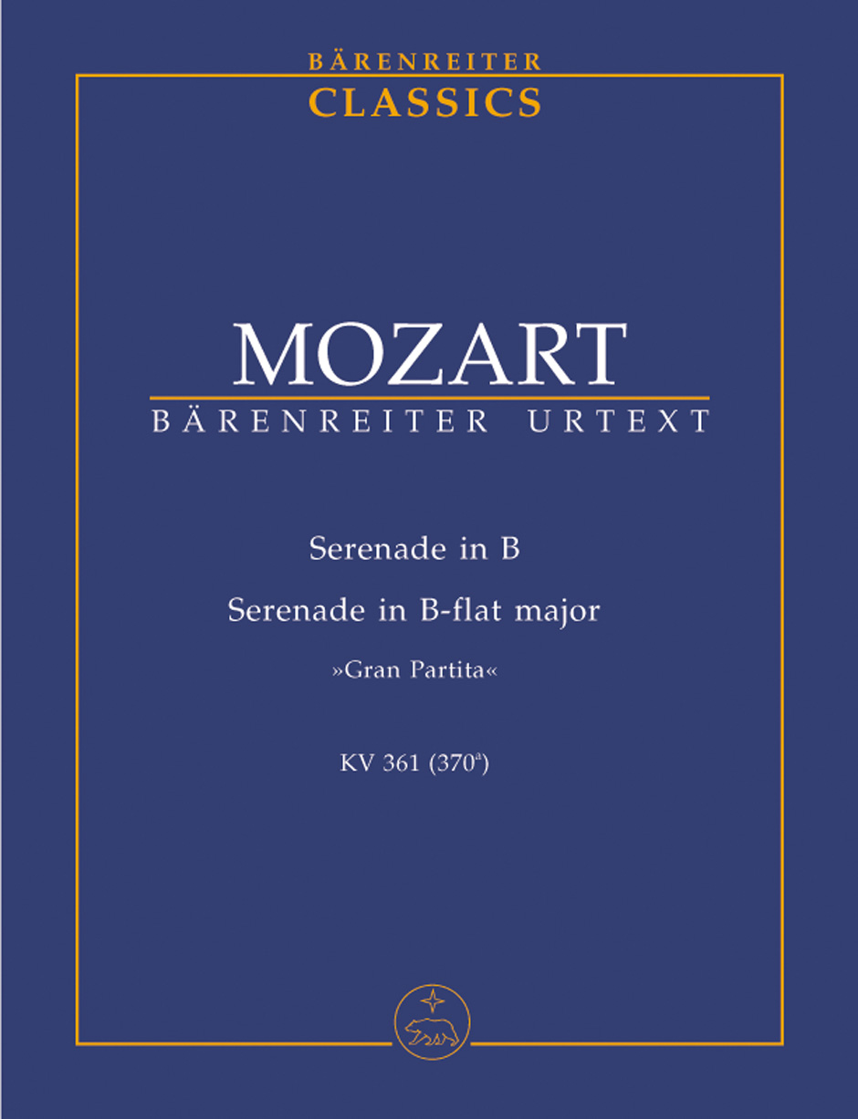 SERENADE No.10 in Bb major KV361, 'Gran Partita' (study score)