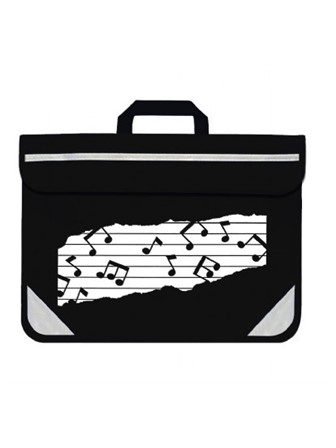 MUSIC BAG DUO Music Notes (Black)