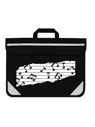 MUSIC BAG DUO Music Notes (Black)