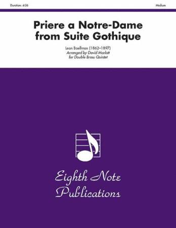 PRIERE A NOTRE-DAME from Suite Gothique