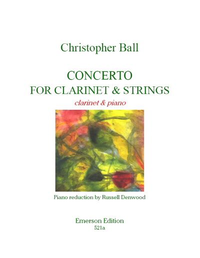 CONCERTO for Clarinet & Strings - Score