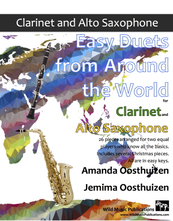 EASY DUETS FROM AROUND THE WORLD for Clarinet & Alto Saxophone