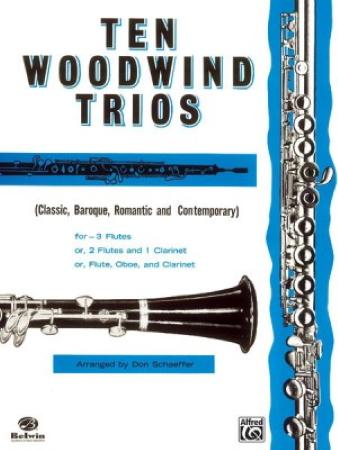 TEN WOODWIND TRIOS (playing score)