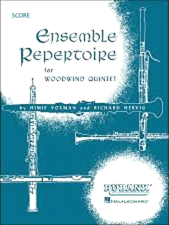 ENSEMBLE REPERTOIRE FOR WOODWIND QUINTET Score