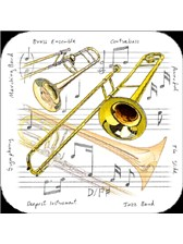 COASTERS Trombone (Pack of 4)