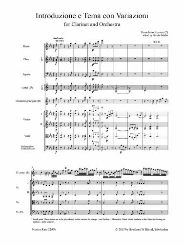 INTRODUZIONE E TEMA CON VARIAZIONI (score & parts)