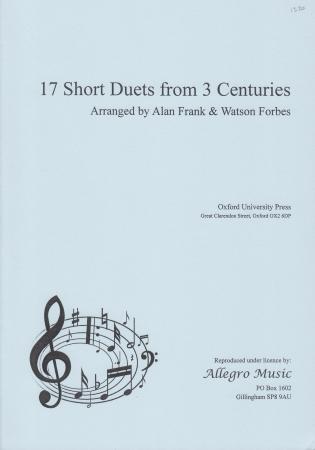 SEVENTEEN SHORT DUETS FROM THREE CENTURIES