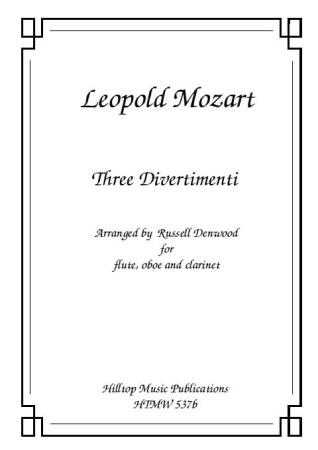 THREE DIVERTIMENTI (score & parts)