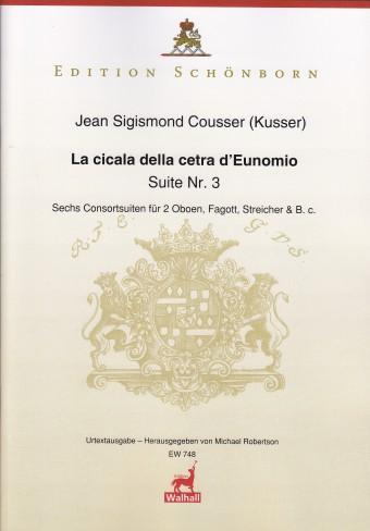 LA CICALA DELLA CETRA D'EUNOMIO Suite No.3 (score & parts)