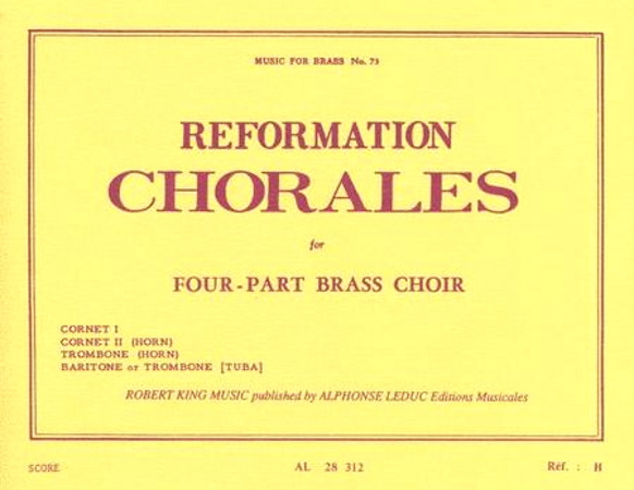 REFORMATION CHORALES playing score