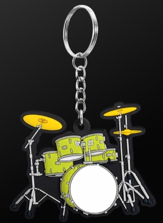 INSTRUMENT KEYRING Drum Set (Green)