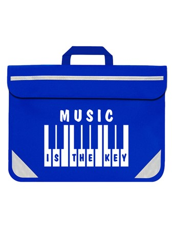 MUSIC BAG Music is the Key (Blue)