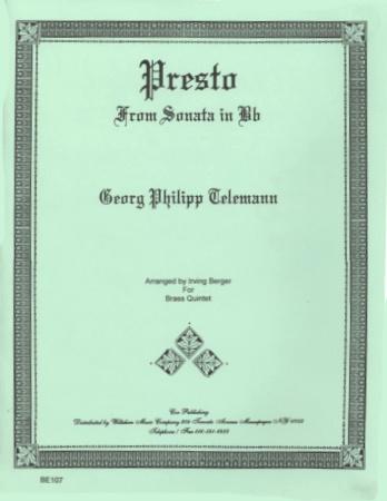 PRESTO from Sonata in Bb major
