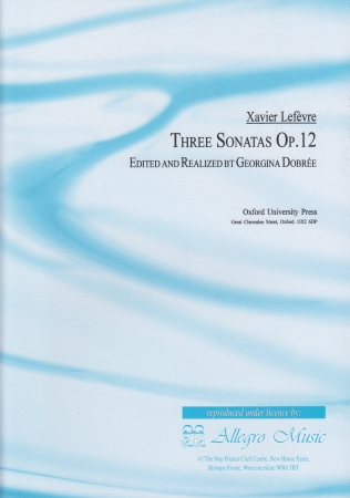 THREE SONATAS Op.12