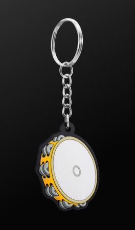 INSTRUMENT KEYRING Tambourine (Orange)