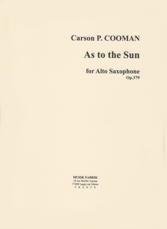 AS TO THE SUN